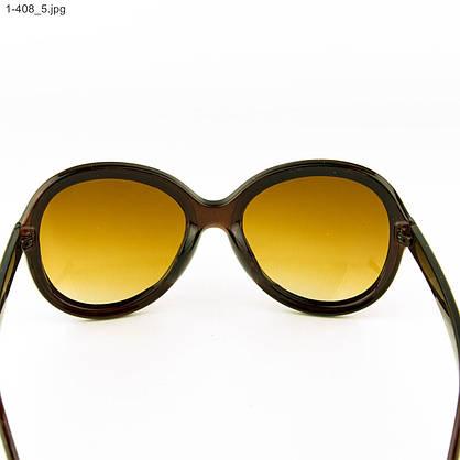 Оптом молодежные солнцезащитные очки - Коричневые- 1-408, фото 3