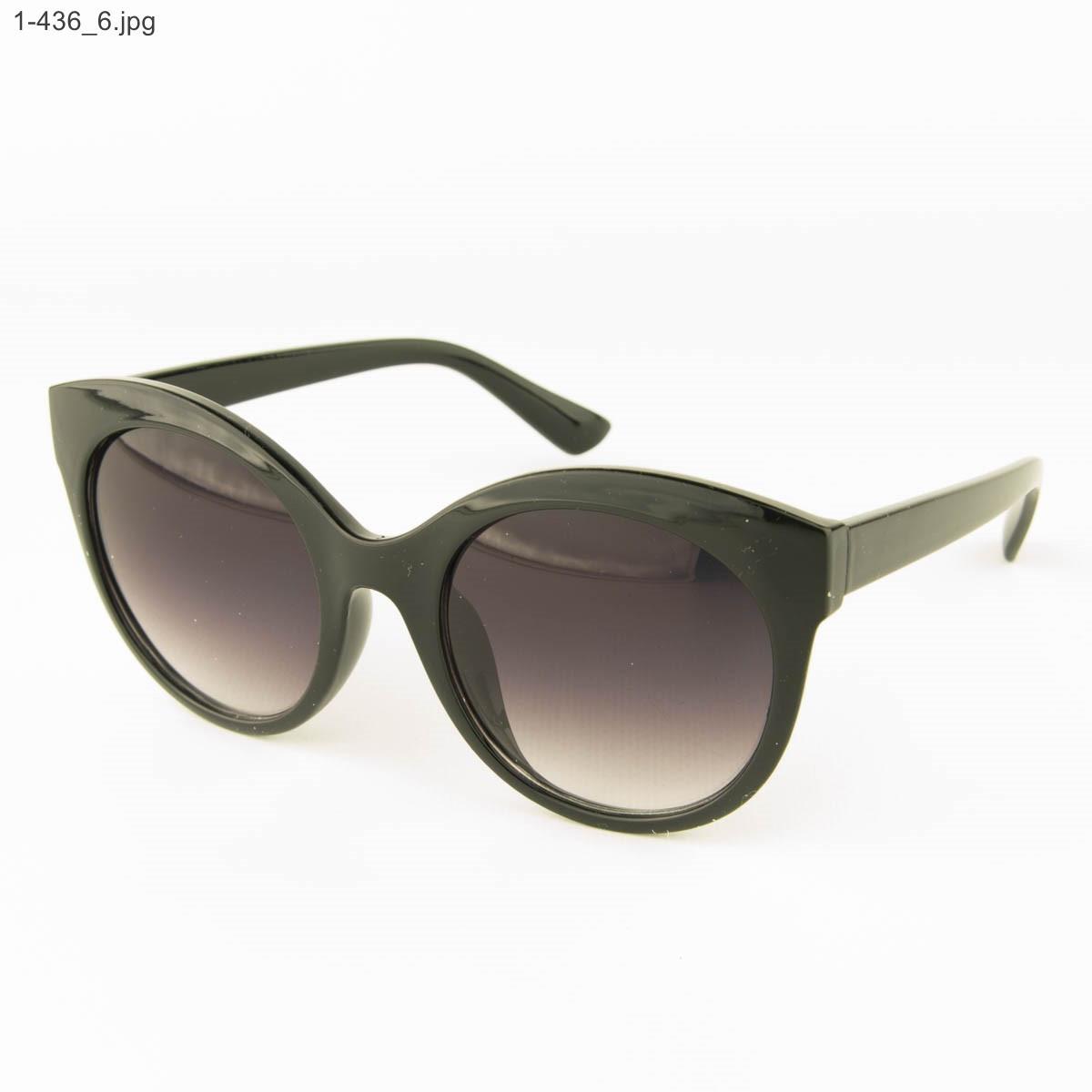 Оптом женские очки солнцезащитные - черные - 1-436