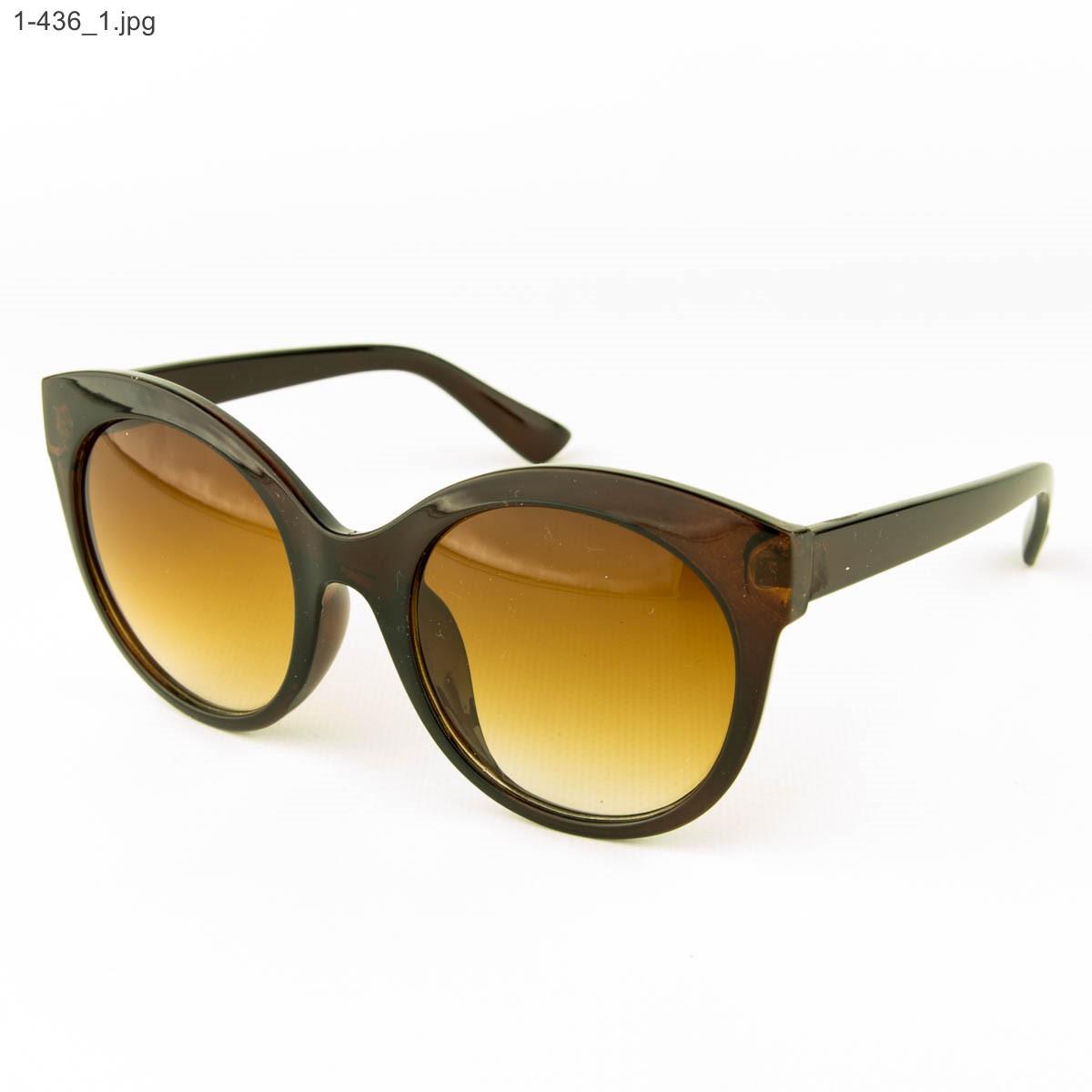 Оптом женские очки солнцезащитные - коричневые - 1-436