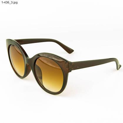 Оптом женские очки солнцезащитные - коричневые - 1-436, фото 3