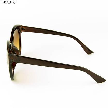 Оптом женские очки солнцезащитные - коричневые - 1-436, фото 2