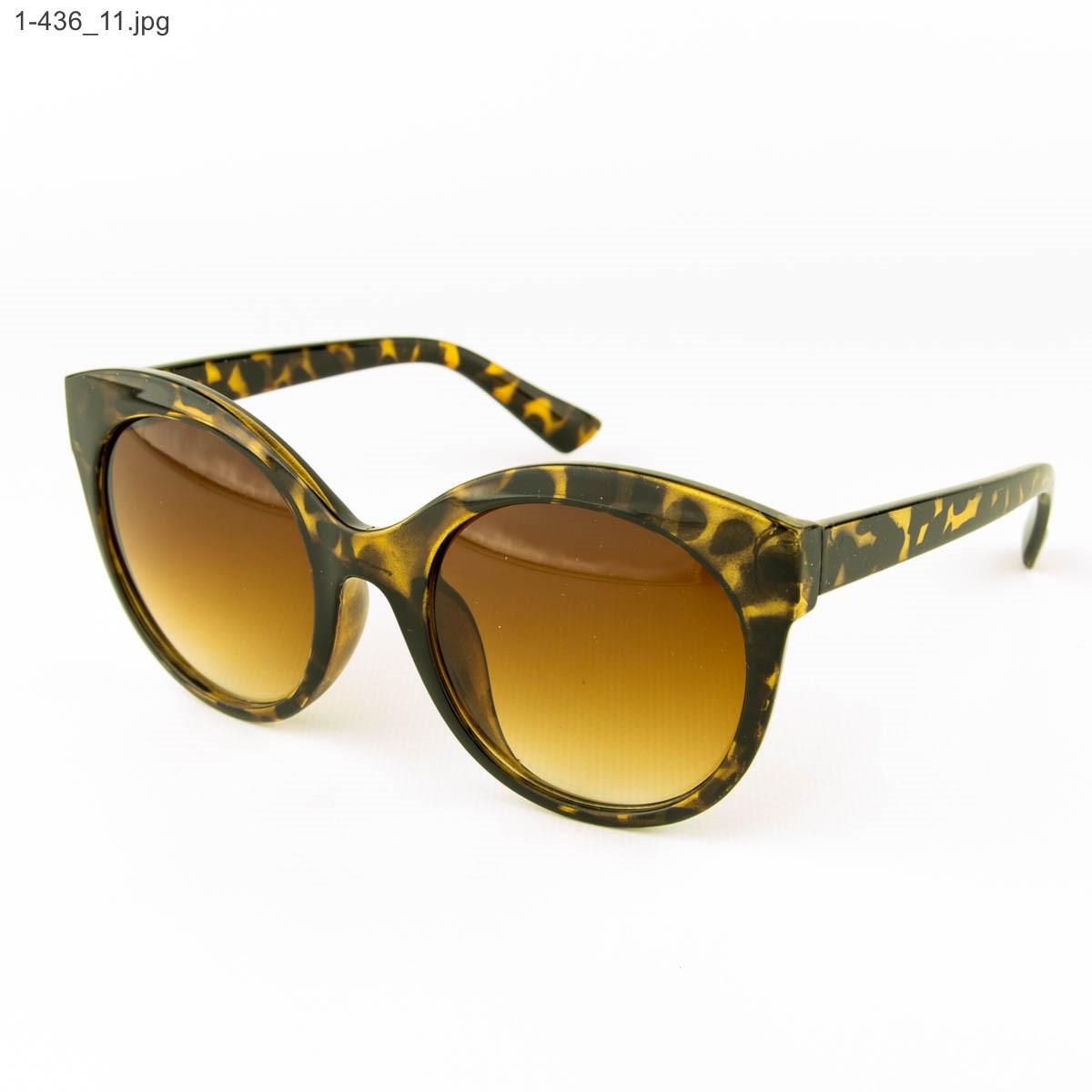 Оптом женские очки солнцезащитные - леопардовые - 1-436