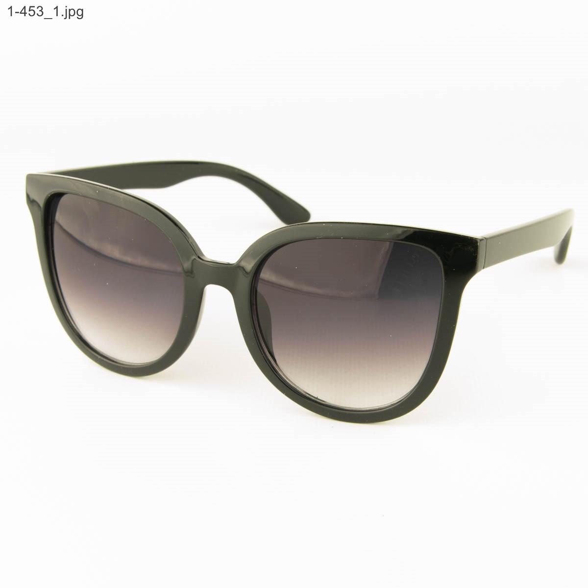 Оптом солнцезащитные женские очки - Черные - 1-453