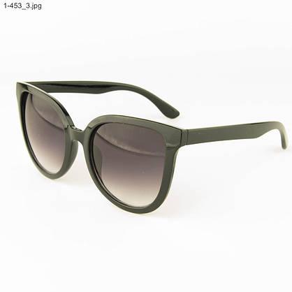 Оптом солнцезащитные женские очки - Черные - 1-453, фото 3