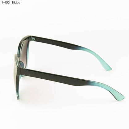 Оптом солнцезащитные женские очки - Черные с голубым - 1-453, фото 2