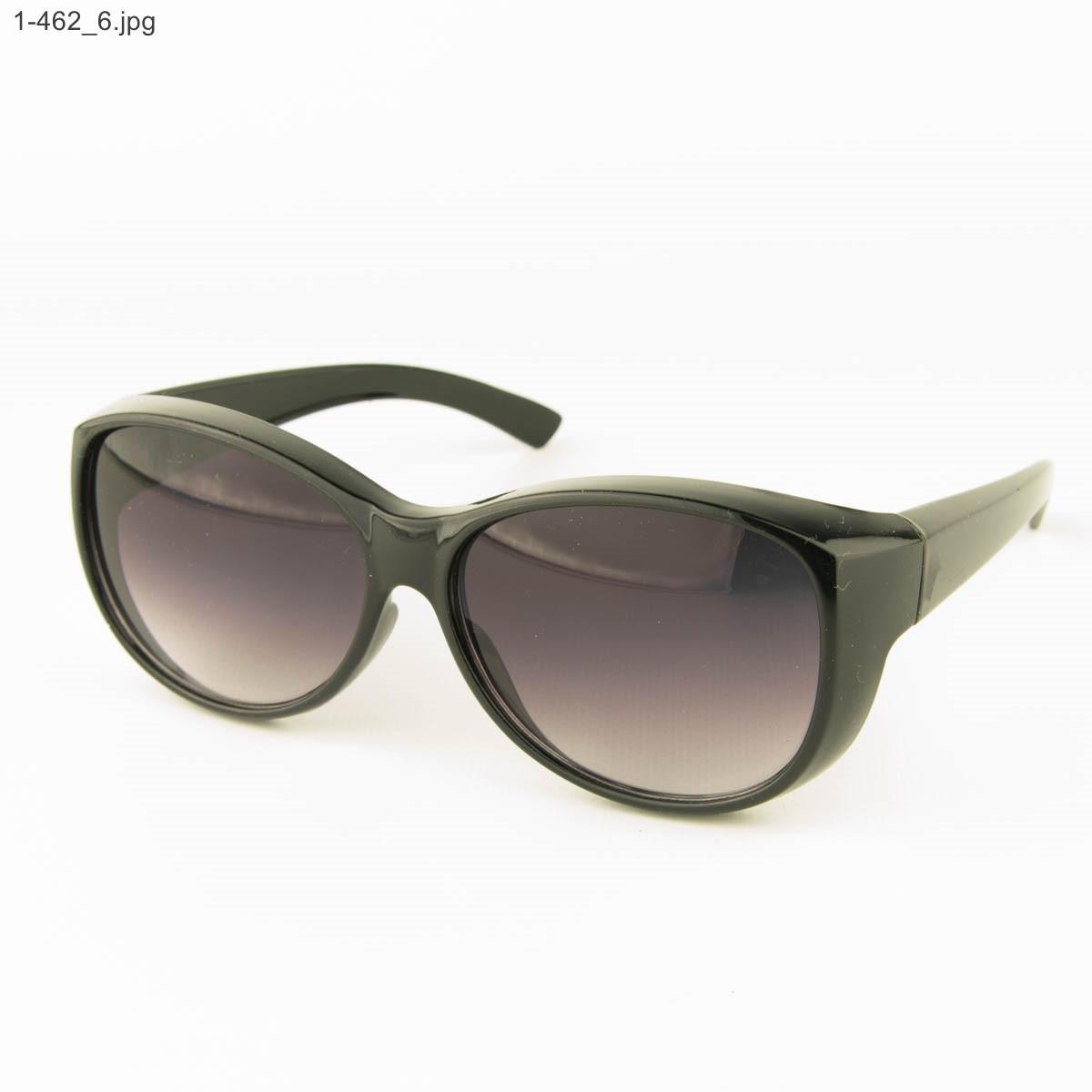 Оптом молодежные солнцезащитные очки - Черные - 1-462