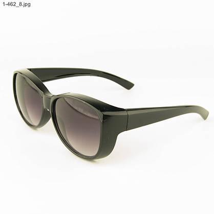 Оптом молодежные солнцезащитные очки - Черные - 1-462, фото 3