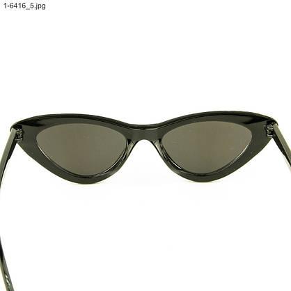 Оптом очки кошачий глаз - Черные с зеркальными линзами - 1-6416, фото 3