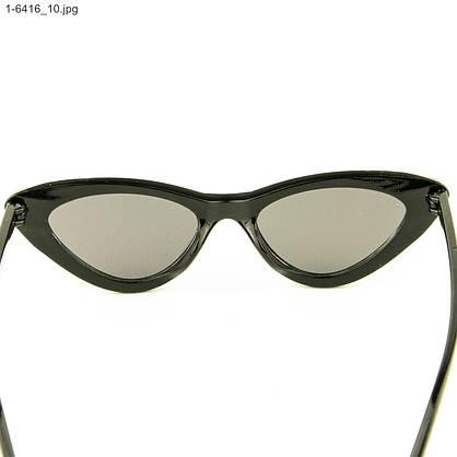 Оптом женские очки кошачий глаз - Черные черными линзами - 1-6416, фото 3
