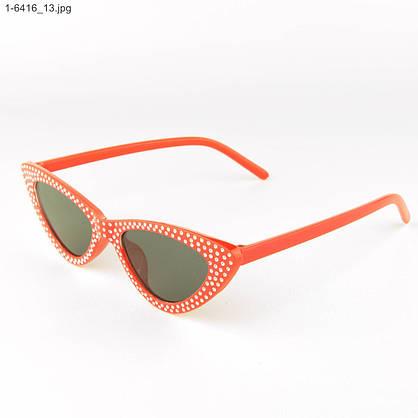 Оптом женские очки кошачий глаз - Красные с черными линзами - 1-6416, фото 3
