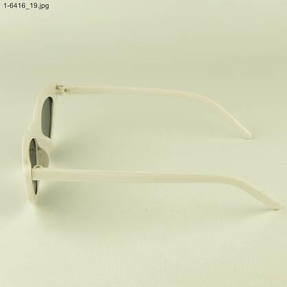 Оптом женские очки кошачий глаз - Белые черными линзами - 1-6416, фото 2