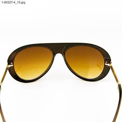 Оптом стильные солнцезащитные очки - Коричневые - 1-8032Т-4, фото 3