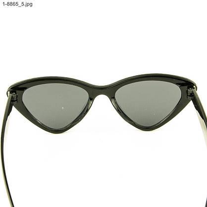 Оптом модные очки кошачий глаз - Черные со стразами (имитация) - 1-8865, фото 3