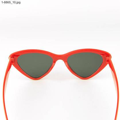 Оптом модные очки кошачий глаз - Красные со стразами (имитация) - 1-8865, фото 3