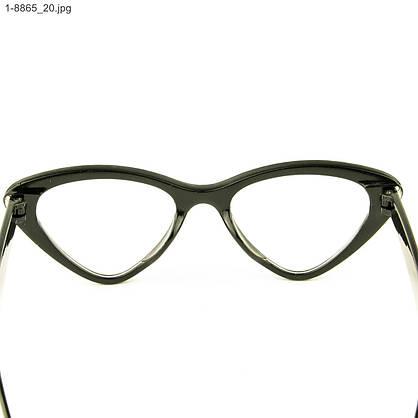 Оптом имиджевые очки кошачий глаз - Черные со стразами (имитация) - 1-8865, фото 3