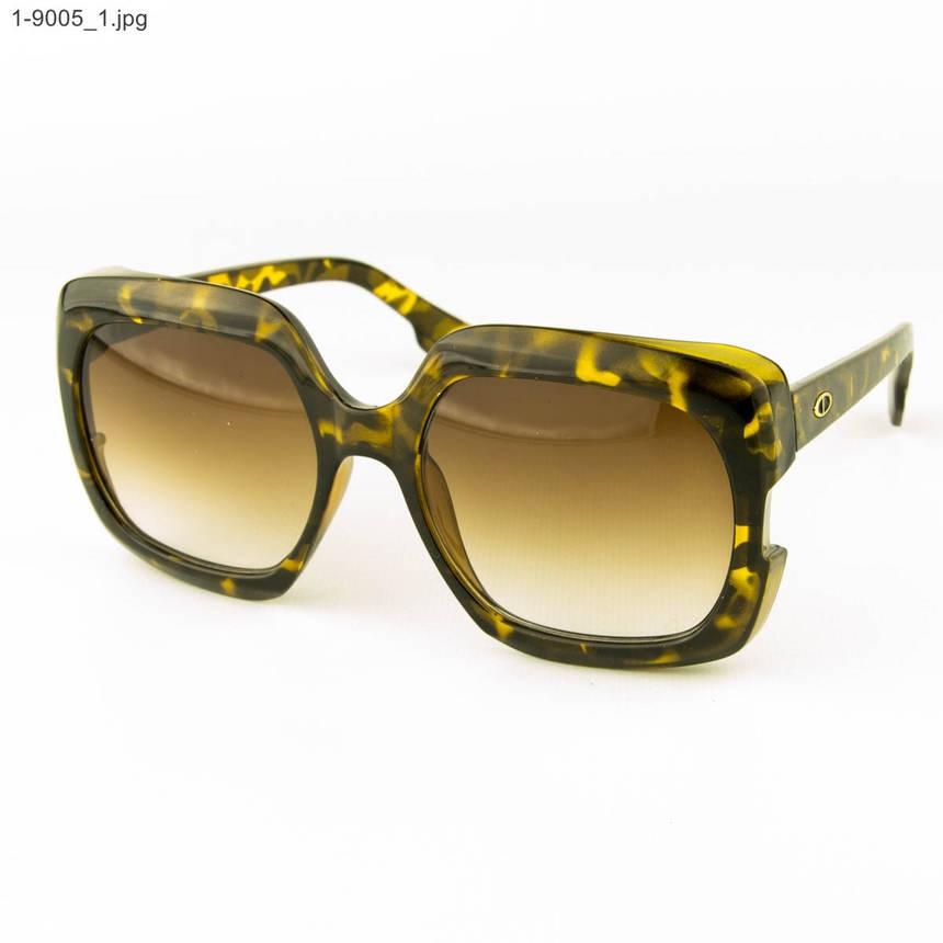 Оптом женские солнцезащитные очки - Леопардовые - 1-9005, фото 2