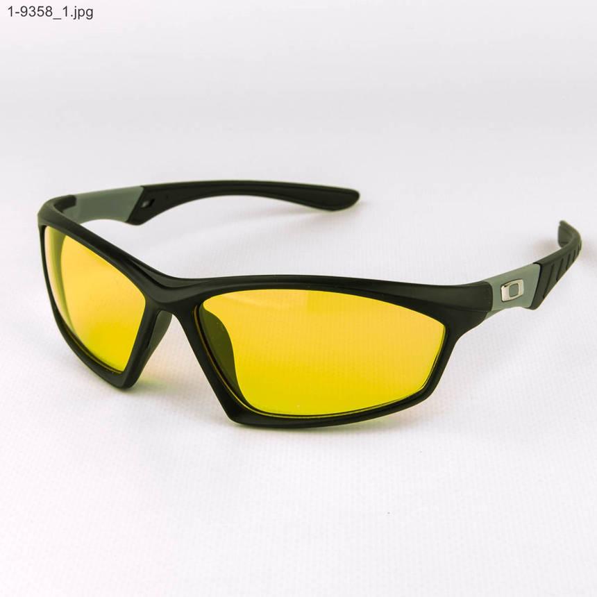 Оптом спортивные мужские очки с желтыми линзами - 1-9358, фото 2