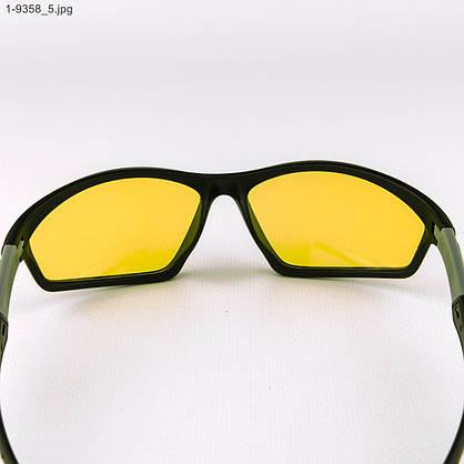 Оптом спортивные мужские очки с желтыми линзами - 1-9358, фото 3