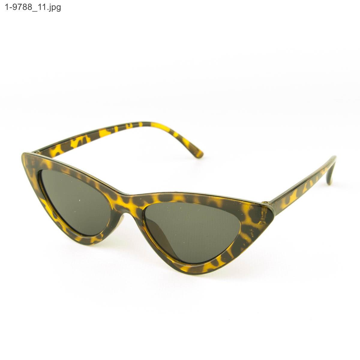 Оптом солнцезащитные женские очки кошачий глаз - Леопардовые - 1-9788