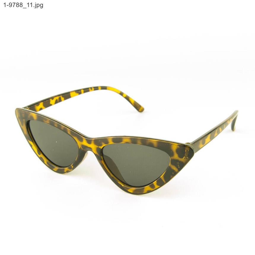 Оптом солнцезащитные женские очки кошачий глаз - Леопардовые - 1-9788, фото 2