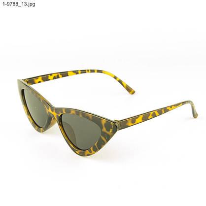 Оптом солнцезащитные женские очки кошачий глаз - Леопардовые - 1-9788, фото 3