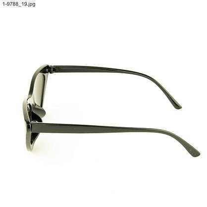 Оптом солнцезащитные женские очки кошачий глаз - Черные - 1-9788, фото 2