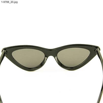 Оптом солнцезащитные женские очки кошачий глаз - Черные - 1-9788, фото 3