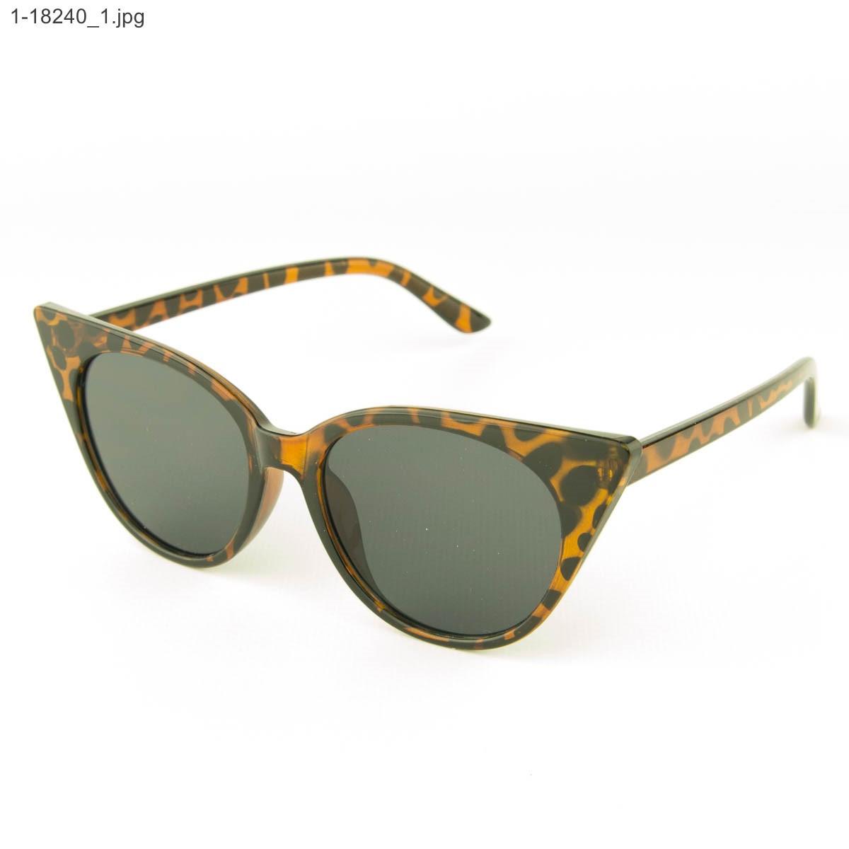 Оптом женские очки кошачий глаз - Леопардовые - 1-18240