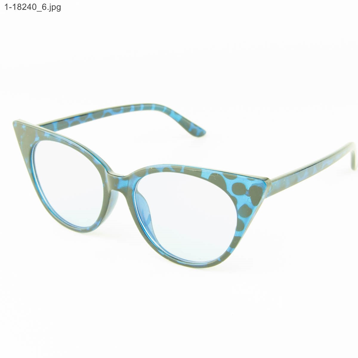 Оптом имиджевые женские очки кошачий глаз - Леопардовые - 1-18240