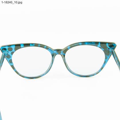 Оптом имиджевые женские очки кошачий глаз - Леопардовые - 1-18240, фото 3