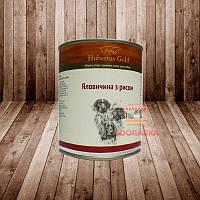 Консерва для собак Hubertus Gold Хубертус Голд. Говядина с рисом
