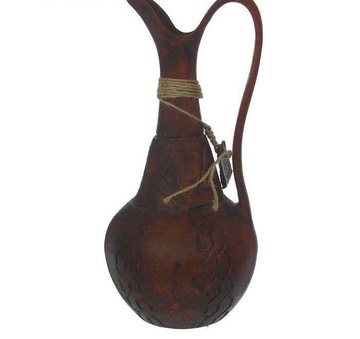 """Кувшин глиняный """"Восточный"""" старина, резной, декор, 0,7 л"""