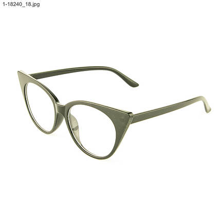 Оптом имиджевые женские очки кошачий глаз - Черные - 1-18240, фото 3