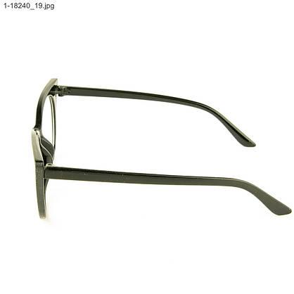 Оптом имиджевые женские очки кошачий глаз - Черные - 1-18240, фото 2