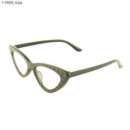 Оптом очки имиджевые кошачий глаз - Черные с шипами - 1-18260, фото 3