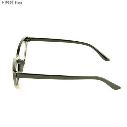 Оптом очки имиджевые кошачий глаз - Черные с шипами - 1-18260, фото 2