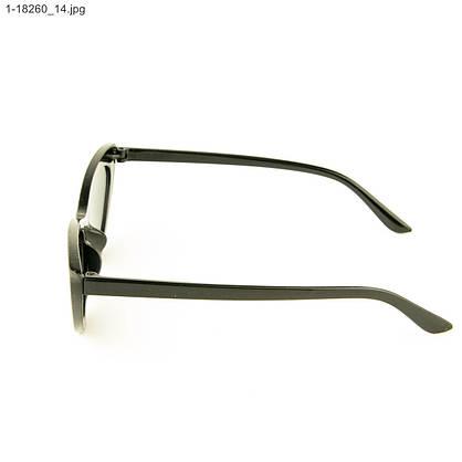 Оптом очки солнцезащитные кошачий глаз - Черные с шипами - 1-18260, фото 2