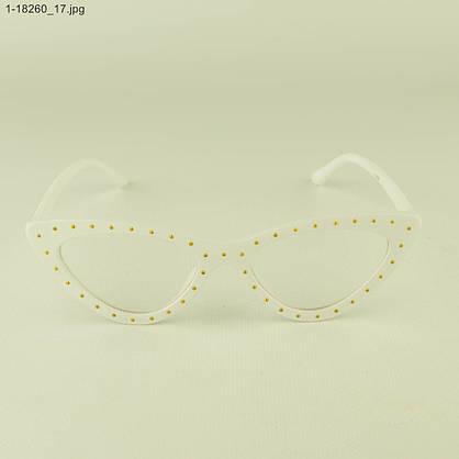 Оптом очки имиджевые кошачий глаз - Белые с шипами - 1-18260, фото 2