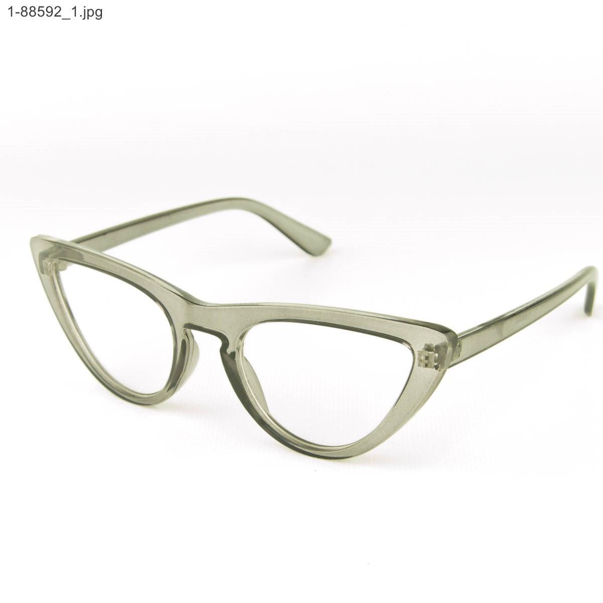 Оптом имиджевые женские очки кошачий глаз - Серые - 1-88592