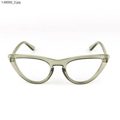 Оптом имиджевые женские очки кошачий глаз - Серые - 1-88592, фото 2