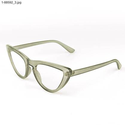 Оптом имиджевые женские очки кошачий глаз - Серые - 1-88592, фото 3