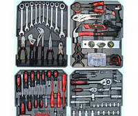 Набор хромированных инструментов Kraft Royal 408 единиц чемодан на колёсах