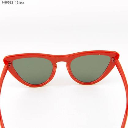 Оптом женские очки кошачий глаз - Красные - 1-88592, фото 3