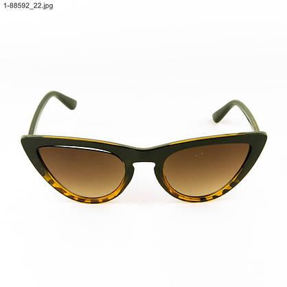 Оптом женские очки кошачий глаз - Леопардовые - 1-88592, фото 2