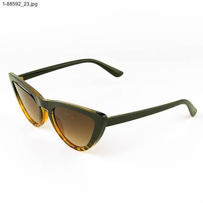Оптом женские очки кошачий глаз - Леопардовые - 1-88592, фото 3