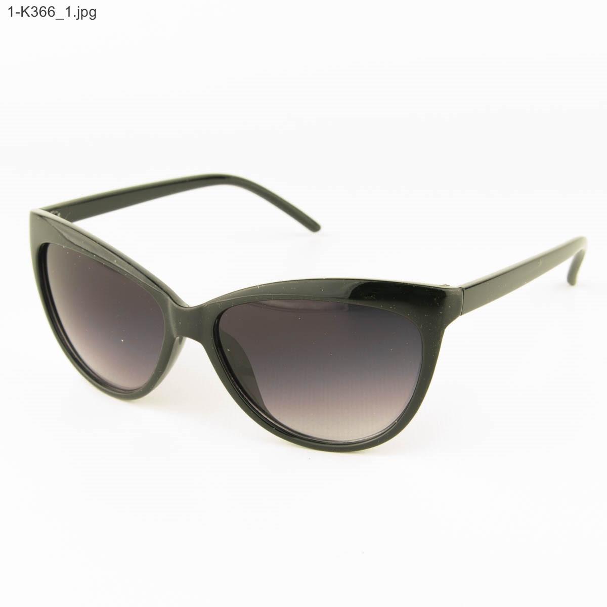 Оптом очки женские солнцезащитные -Черные - 1-К366