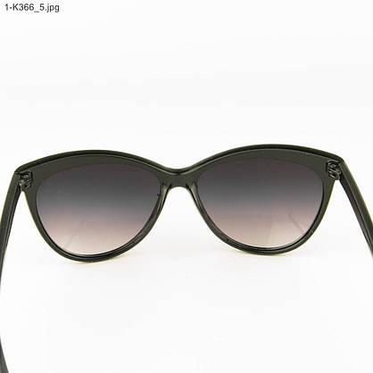 Оптом очки женские солнцезащитные -Черные - 1-К366, фото 3