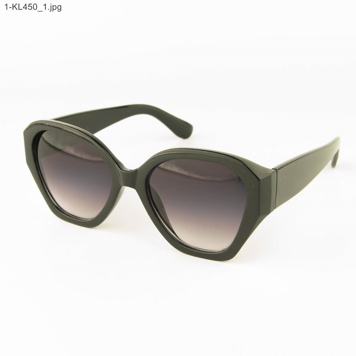 Оптом стильные женские солнцезащитные очки - Черные - 1-КL450