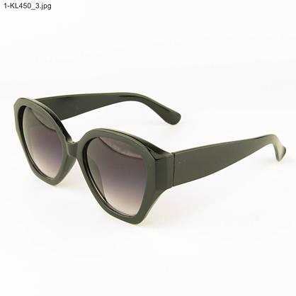 Оптом стильные женские солнцезащитные очки - Черные - 1-КL450, фото 3