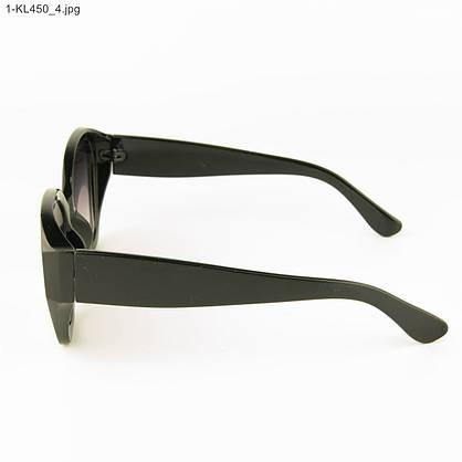 Оптом стильные женские солнцезащитные очки - Черные - 1-КL450, фото 2